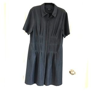 Tahari Navy short sleeve dress